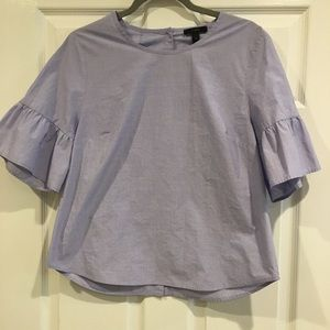 Button back bell sleeve top